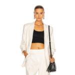 Белый пиджак-бойфренд