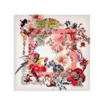 Квадратный шарф Salvatore Ferragamo Tropical Collage