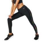 Черные леггинсы с радужной полоской 7/8 Nike Training One