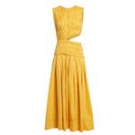 Платье миди AJE Cascade с вырезом