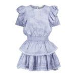 Мини-платье из хлопка LOVESHACKFANCY Natasha