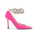 Бархатные туфли-лодочки Nº21 с цепочкой